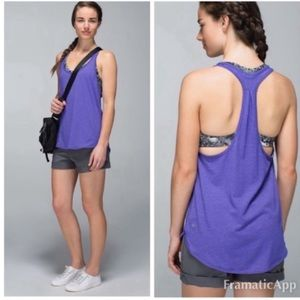 Lululemon 105 F Singlet Tank In Heathered Berry 6